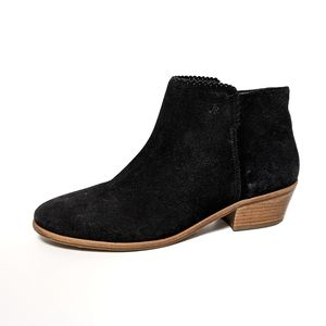 Jack Rogers Black Suede Ankle Booties 8